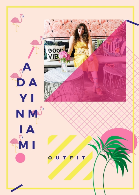 miami outfit she wears color colorful style