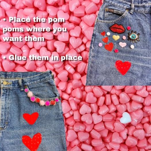 She Wears Color valentine valentine diy jeans