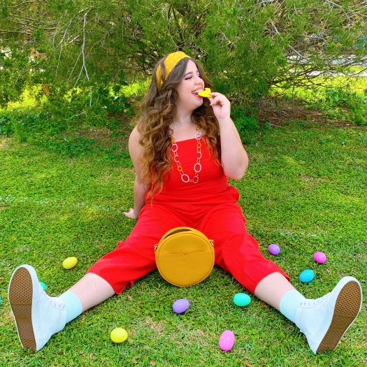 She Wears Color Easter outfit spring outfit plus size style Egg hunting